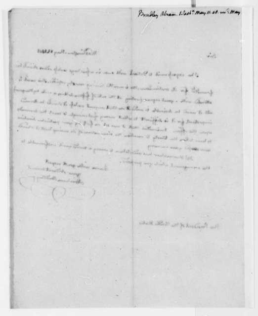 Abraham Bradley, Jr. to Thomas Jefferson, May 11, 1808