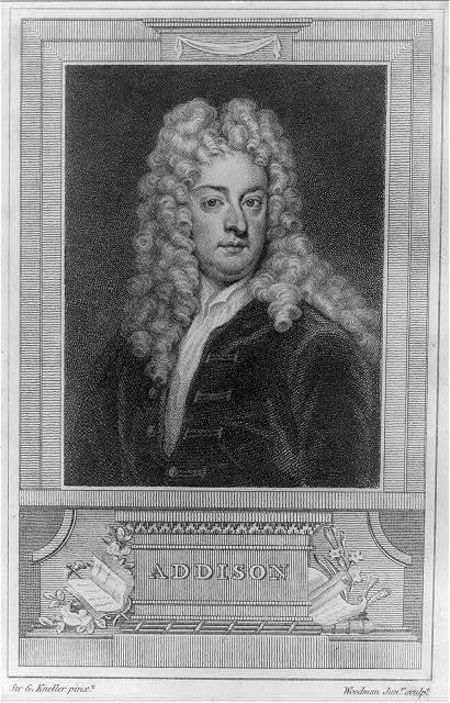 Addison / Sir G. Kneller pinxt, Woodman Junr. sculpt.