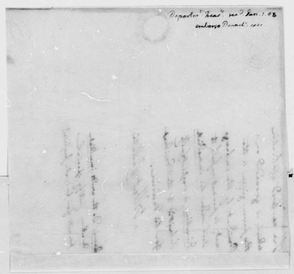 Albert Gallatin to Thomas Jefferson, January 1, 1808