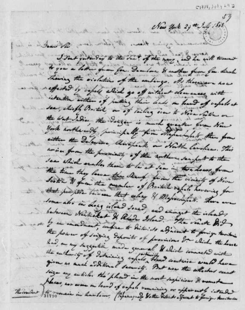 Albert Gallatin to Thomas Jefferson, July 29, 1808