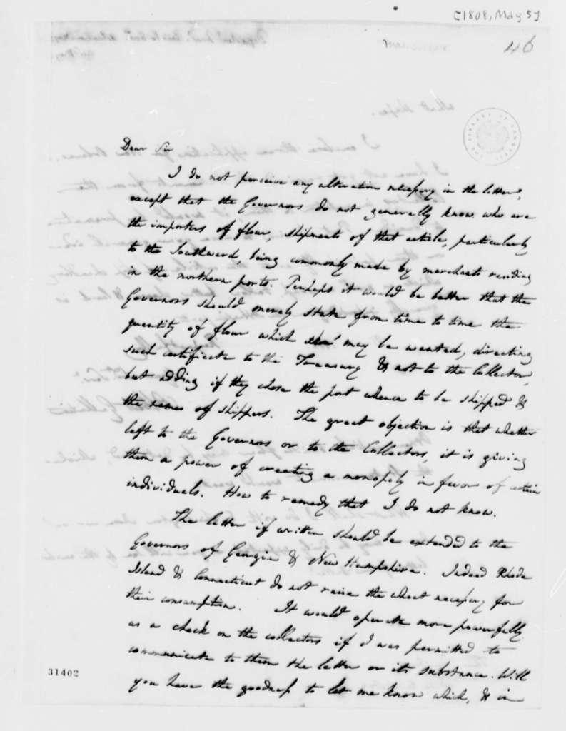 Albert Gallatin to Thomas Jefferson, May 5, 1808