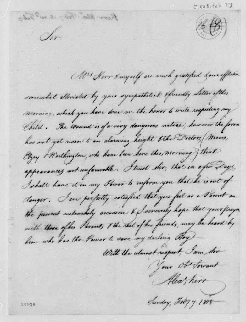 Alexander Kerr to Thomas Jefferson, February 7, 1808