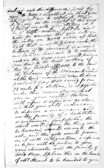 Andrew Jackson to John McNairy, January 20, 1808