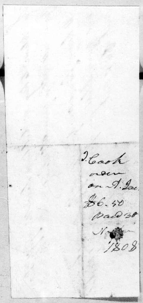 Andrew Jackson to Joseph Cook