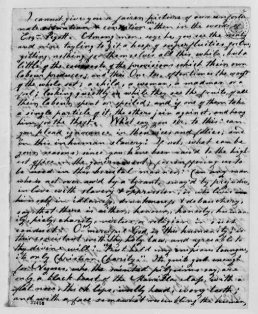 Anonymous to Thomas Jefferson, November 30, 1808, Signed Love and Liberty