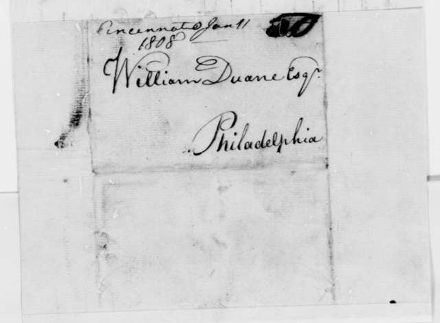 Anonymous to William Duane, January 11, 1808, Signed Democrat