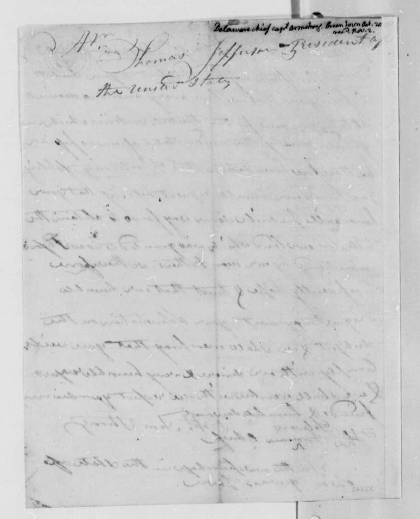 Armstrong to Thomas Jefferson, October 20, 1808