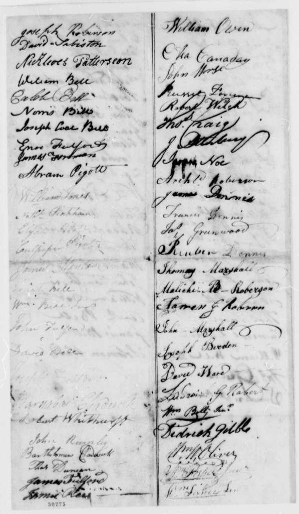 Beaufort, North Carolina, Citizens to Thomas Jefferson, January 2, 1808, Resolution