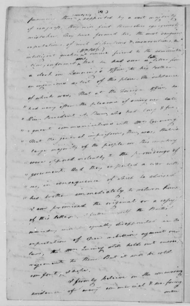 Caesar A. Rodney to Thomas Jefferson, December 6, 1808
