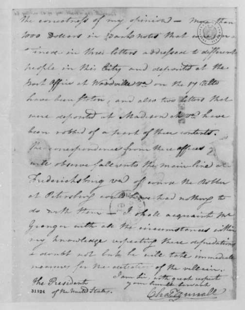Charles Burrall to Thomas Jefferson, August 19, 1808
