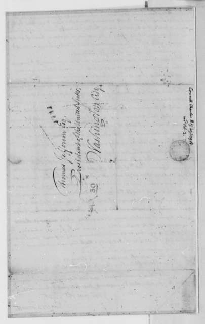 Charles Connell to Thomas Jefferson, September 29, 1808