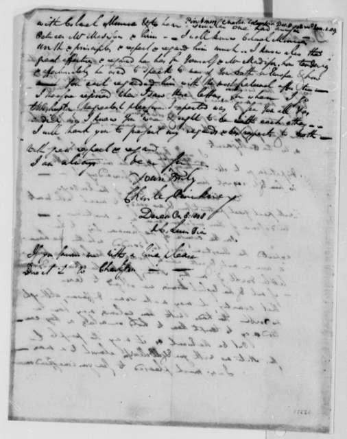 Charles Pinckney to Thomas Jefferson, December 8, 1808