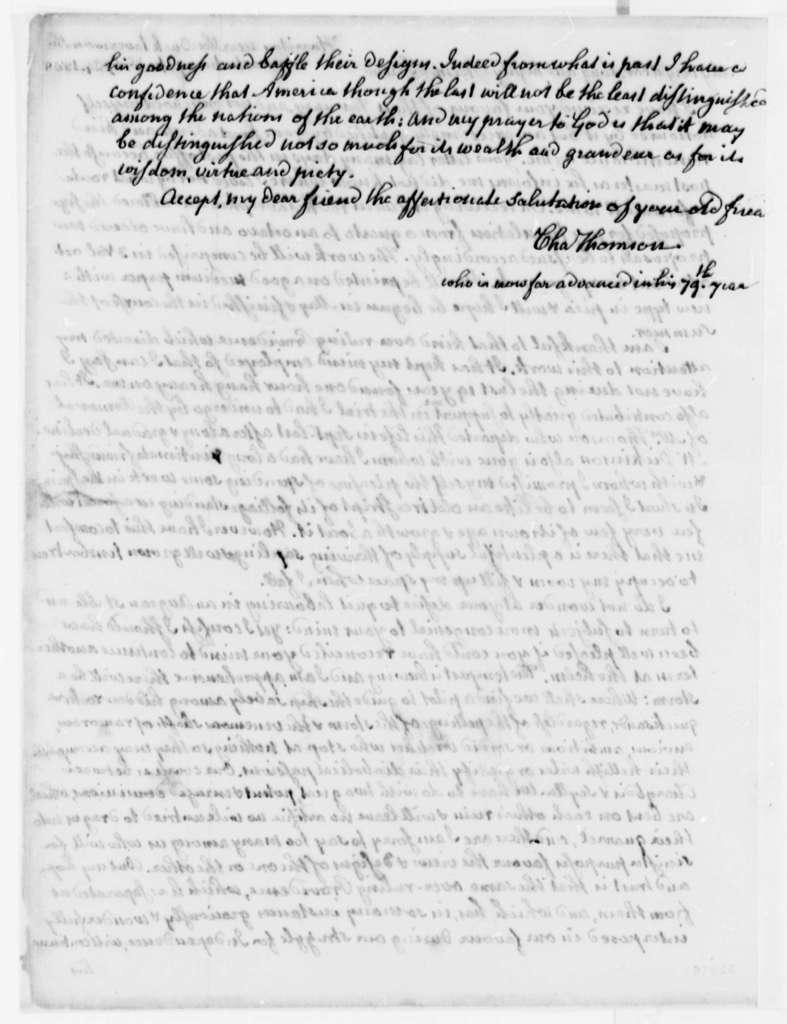 Charles Thomson to Thomas Jefferson, February 24, 1808
