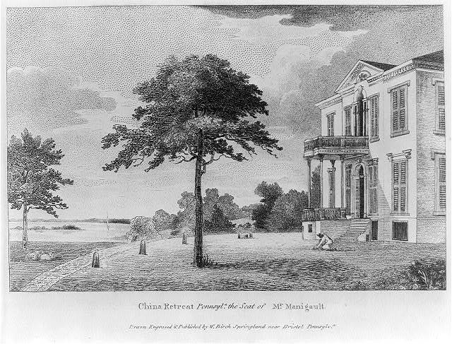 China Retreat, Pennsyl'a, the seat of Mr. Manigault / drawn, engraved & published by W. Birch, Springland near Bristol, Pennsylv'a.