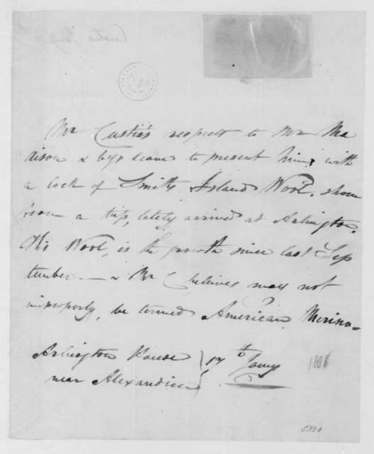 Custis to James Madison, January 17, 1808. With Wool Sample.