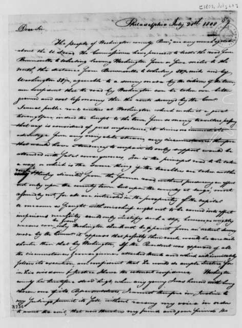 David Acheson to Albert Gallatin, July 20, 1808