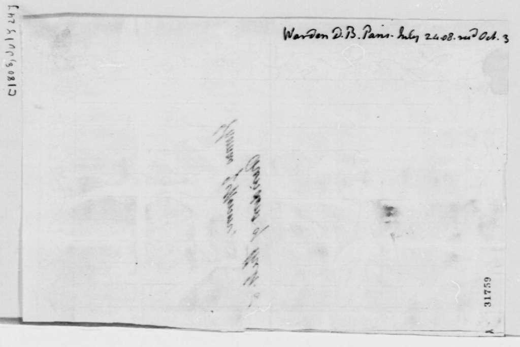David B. Warden to Thomas Jefferson, July 24, 1808