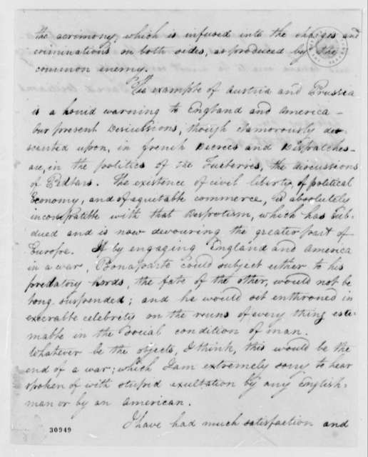 David Williams to James Bowdoin, February 12, 1808