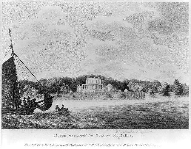 Devon in Pennsylv'a, the seat of Mr. Dallas / painted by T. Birch ; engraved & published by W. Birch, Springland near Bristol, Pennsylvania.