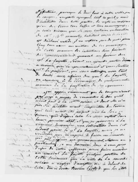Duplantier to Thomas Jefferson, June 12, 1808, in French