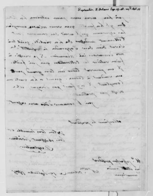 Duplantier to Thomas Jefferson, September 19, 1808