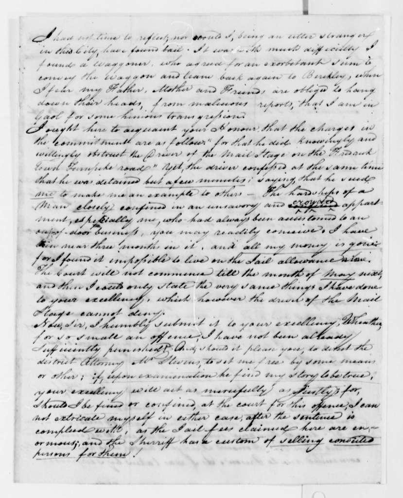 Edon Marchant to Thomas Jefferson, March 23, 1808