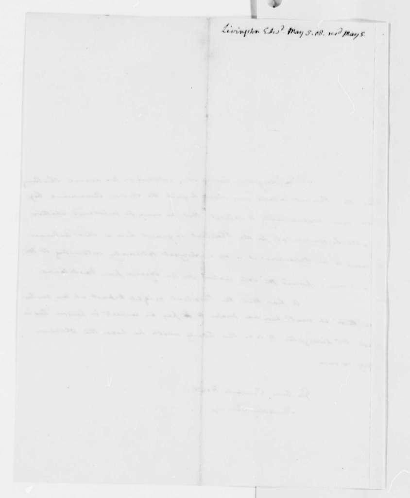 Edward Livingston to Thomas Jefferson, May 5, 1808