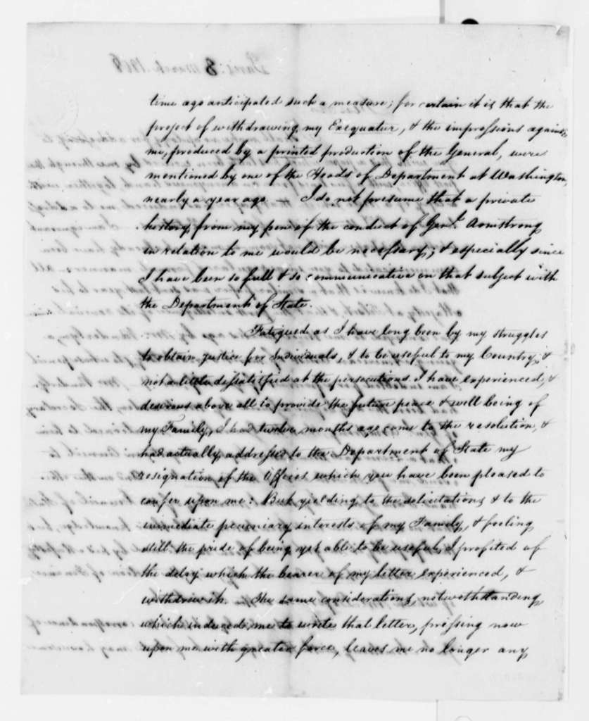 Fulwar Skipwith to Thomas Jefferson, March 8, 1808