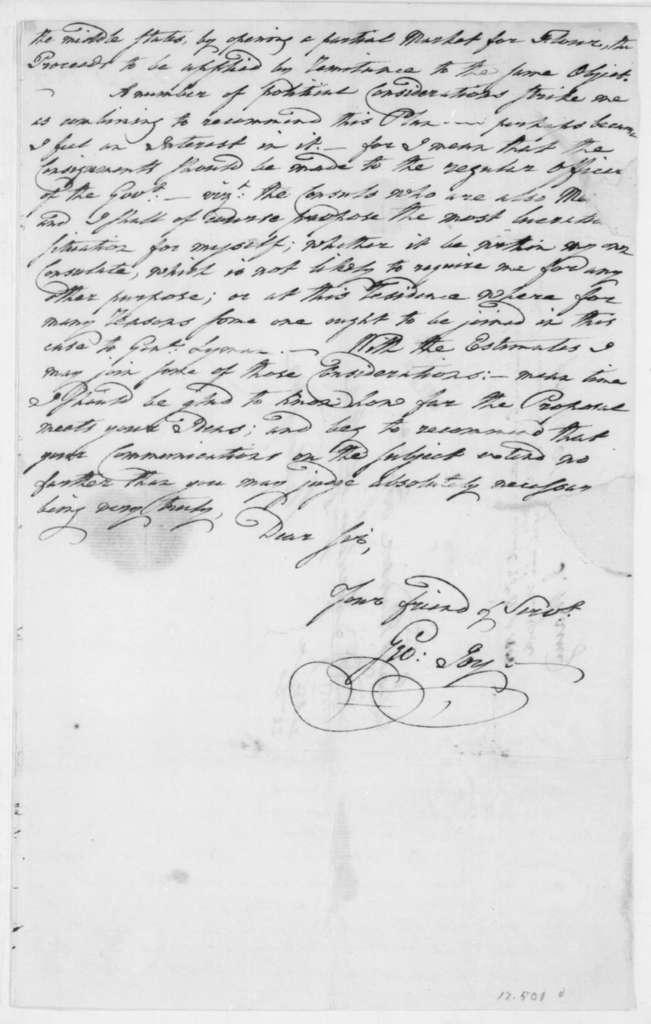 George Joy to James Madison, December 20, 1808. With Copy-Postscript of Dec 22.