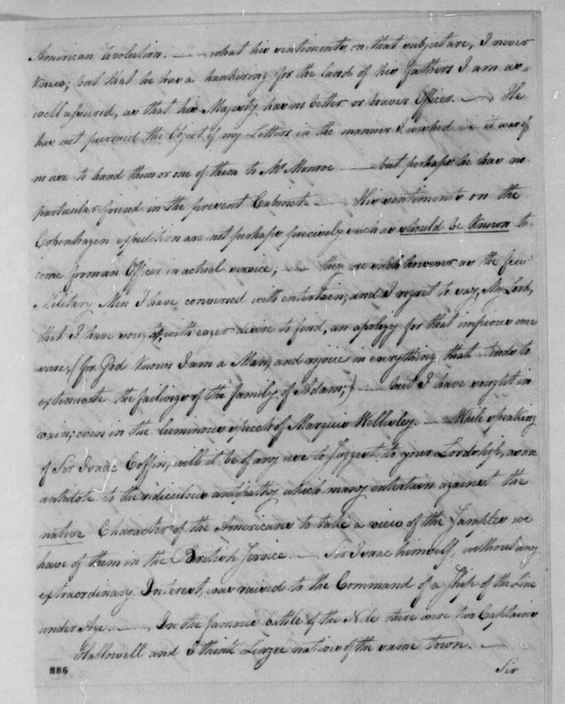 George Joy to Lord Holland, February 11, 1808.