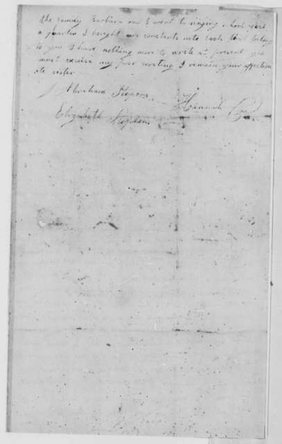 Hannah Coe to Abraham and Elizabeth Stephens, November 21, 1808