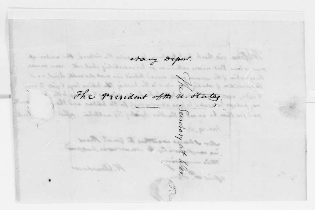 Henry Dearborn to Thomas Jefferson, April 30, 1808, with Dearborn's Reply