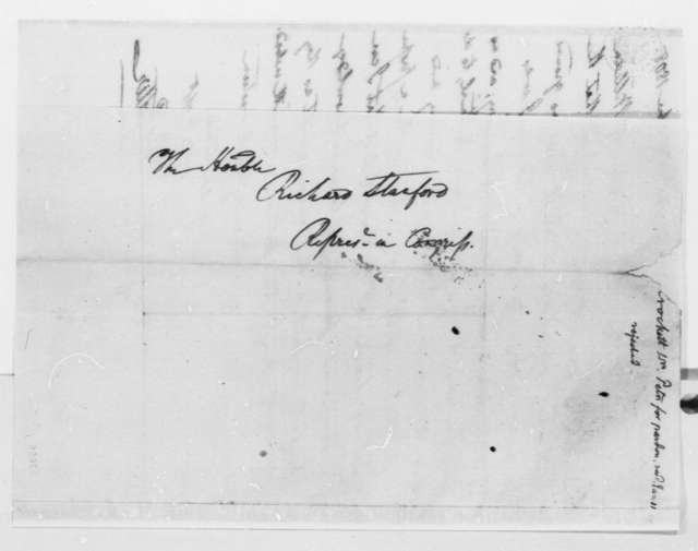 Henry Potter to Richard Stanford, December 30, 1808