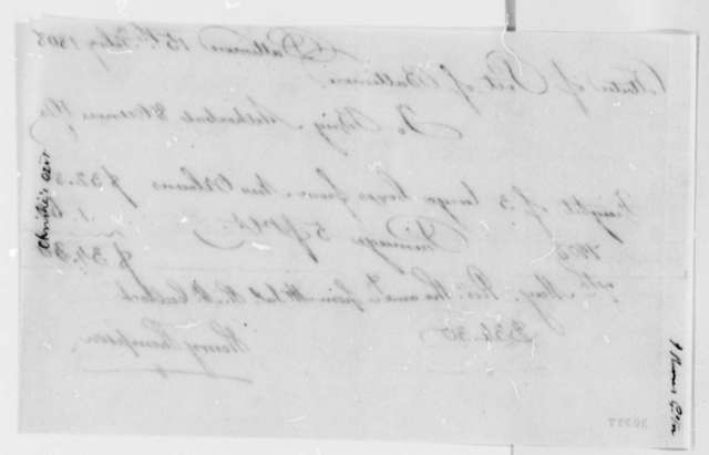 Henry Thompson, February 15, 1808, Receipt of Freight Charges