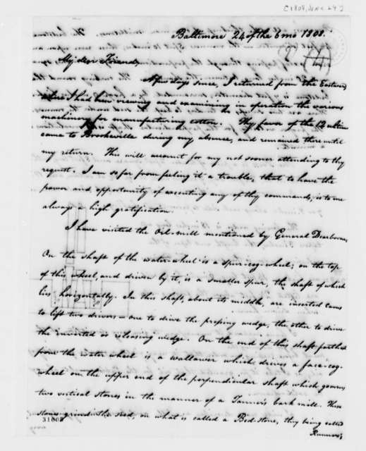 Isaac Briggs to Thomas Jefferson, June 24, 1808