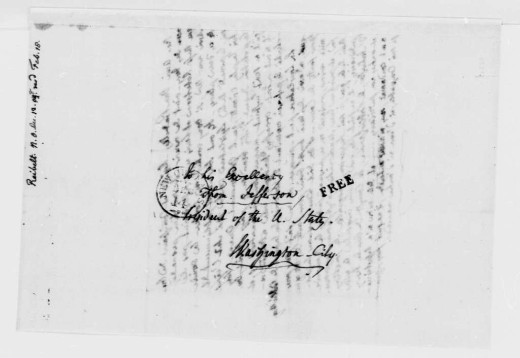 J. Philip Reibelt to Thomas Jefferson, December 12, 1808, in French