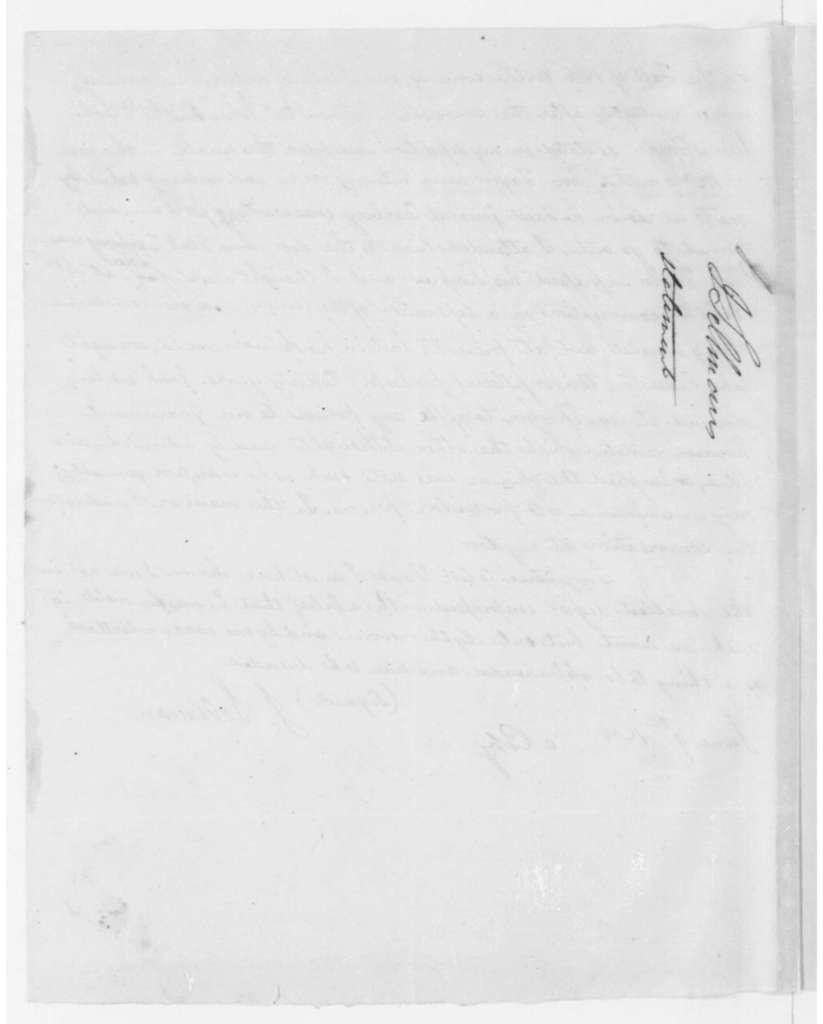J. Sellman, June 9, 1808. Statement, Smith Case.