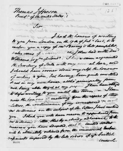 James Bowdoin to Thomas Jefferson, June 9, 1808