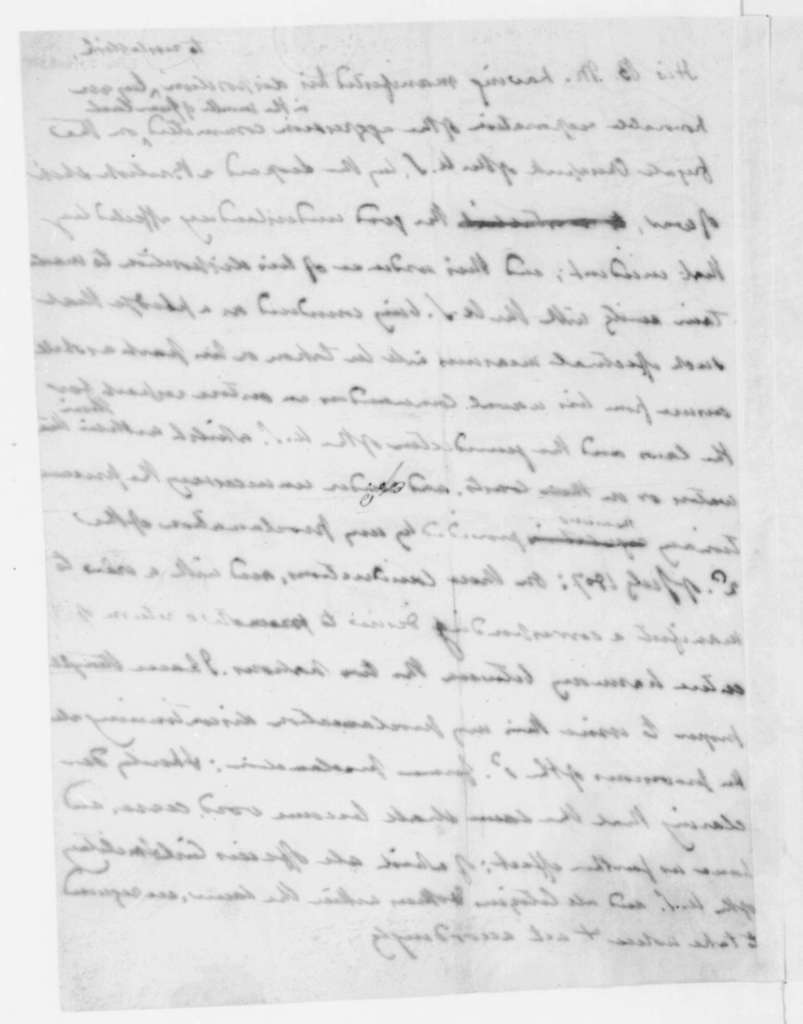 James Madison, February 5, 1808. Copy of note written by Thomas Jefferson. Proposed proclamation on trade interference. James Madison's copy.