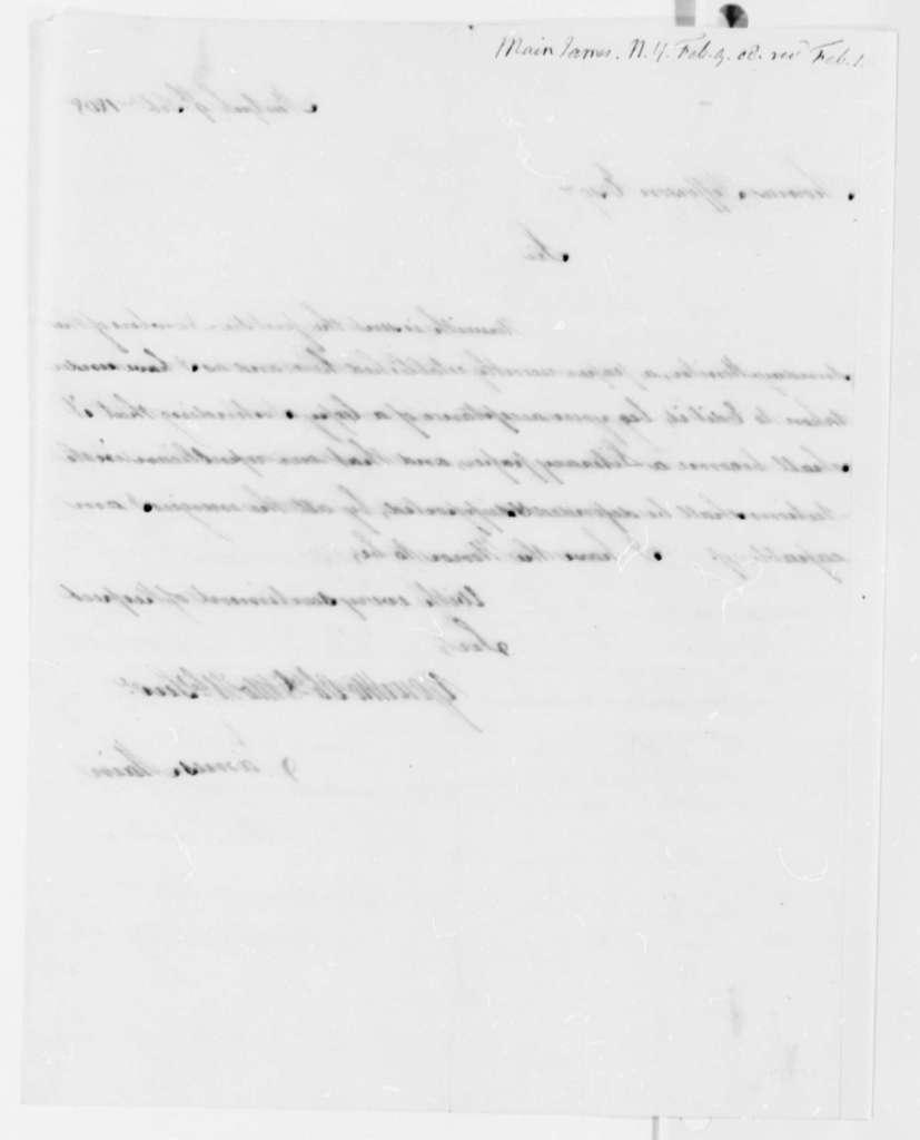 James Main to Thomas Jefferson, February 9, 1808