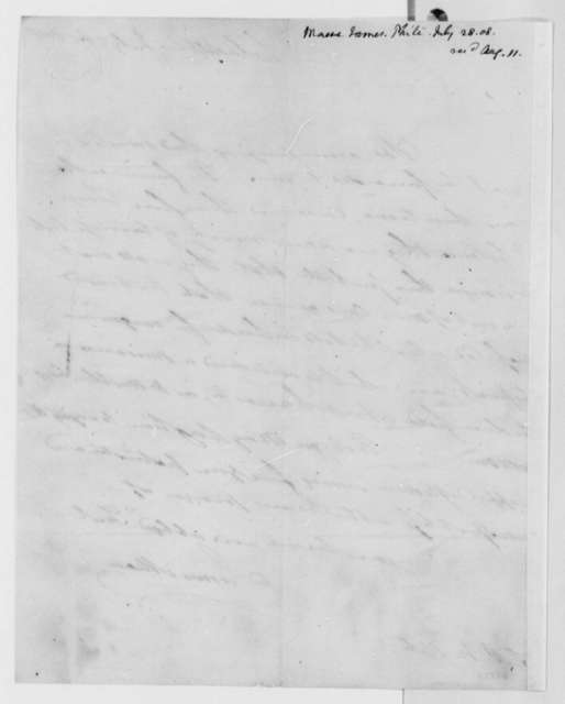 James Mease to Thomas Jefferson, July 28, 1808