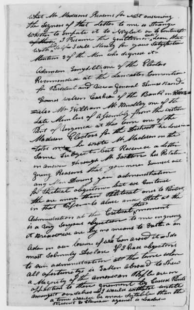 James Riddle to Thomas Jefferson, July 20, 1808