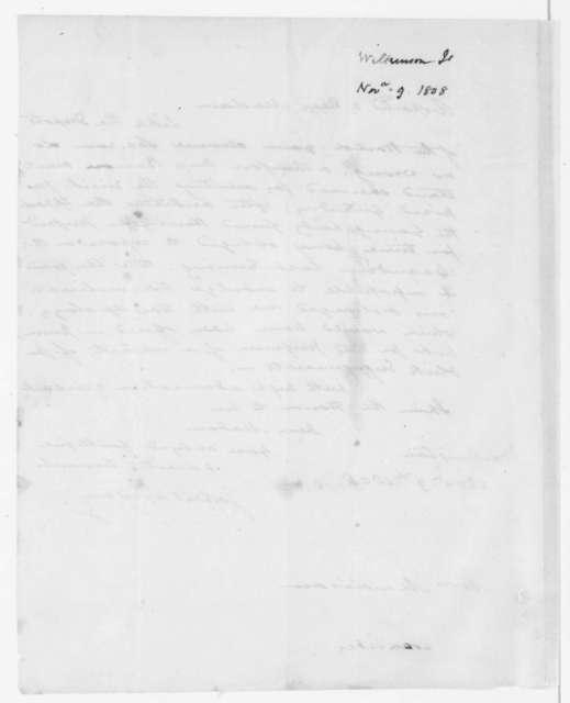 James Wilkinson to Dolley Payne Madison, November 9, 1808.