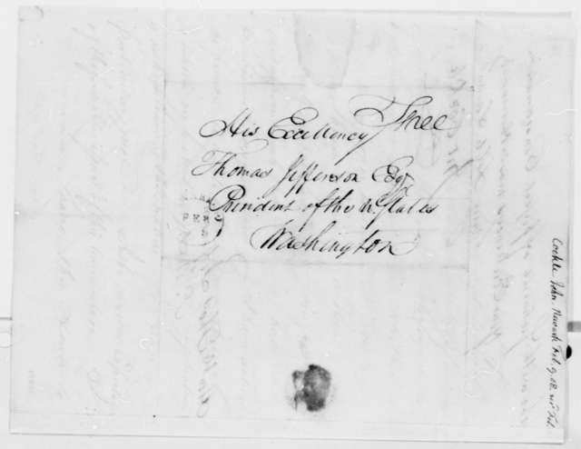 John Cockle to Thomas Jefferson, February 9, 1808
