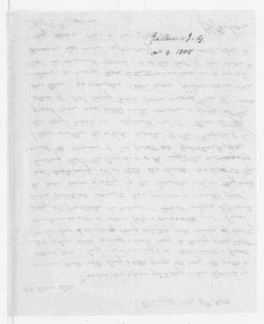 John G. Jackson to Dolley Payne Madison, October 8, 1808.