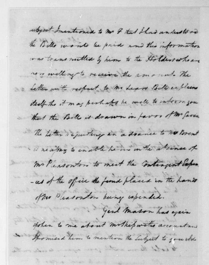 John Graham to James Madison, August 26, 1808.