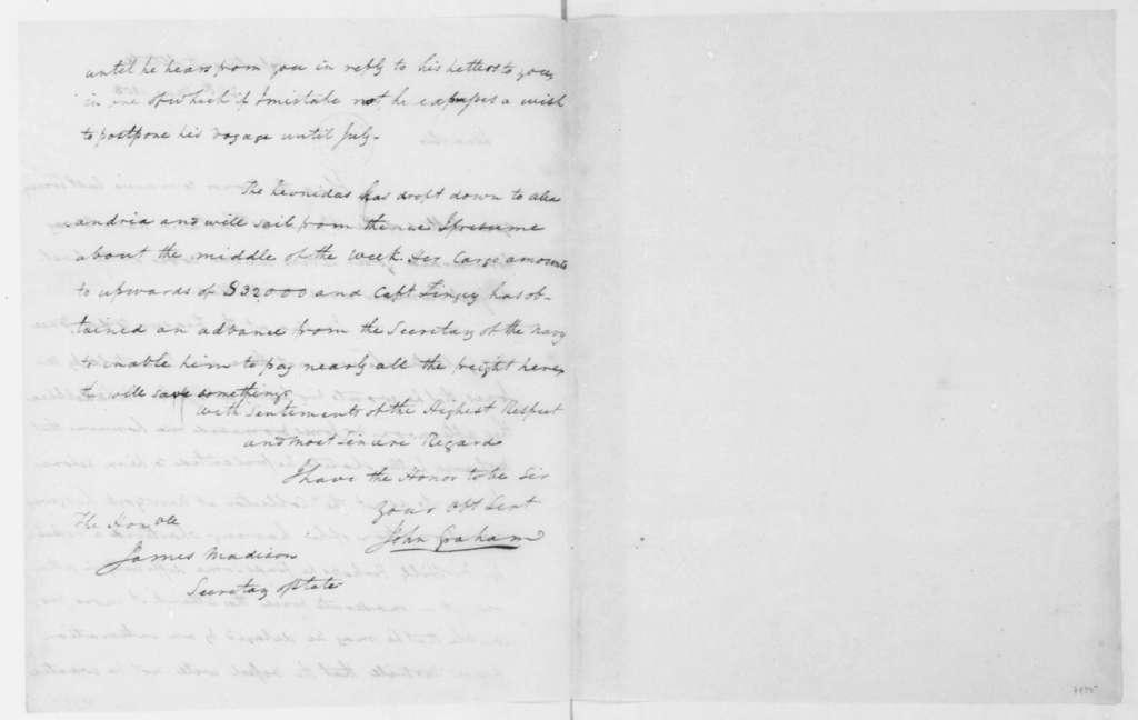 John Graham to James Madison, May 24, 1808.