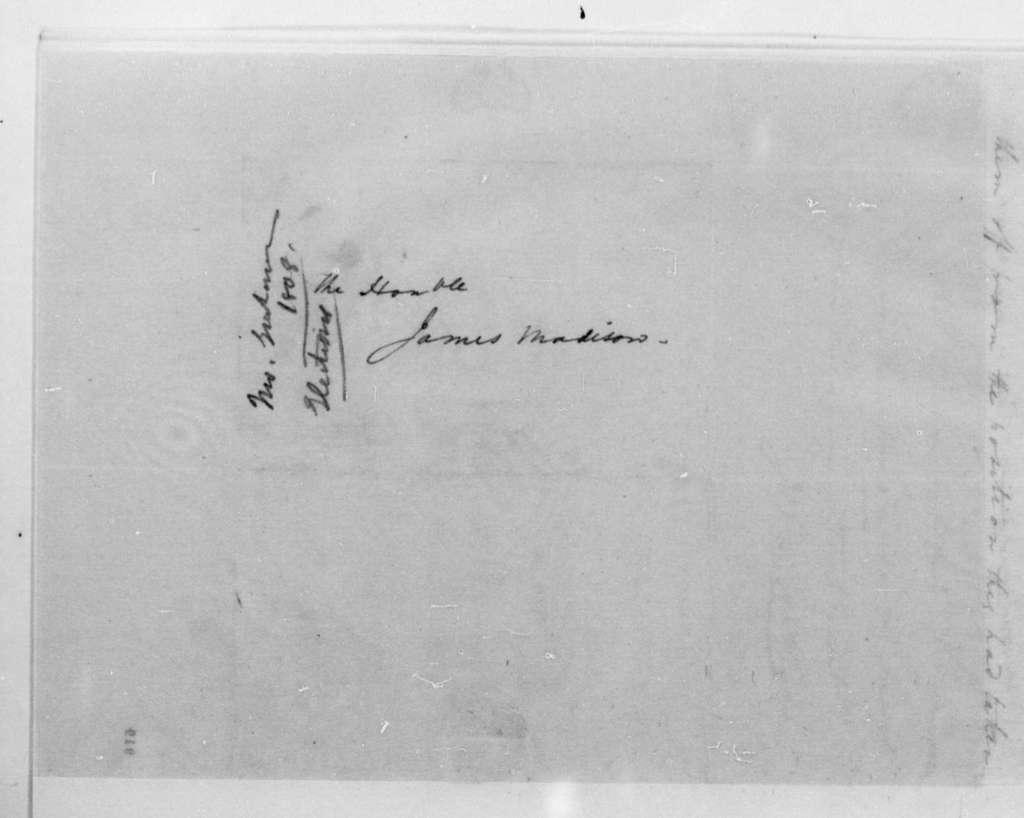 John Graham to James Madison, September 6, 1808.