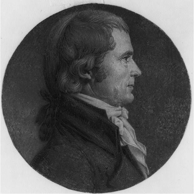 [John Marshall, head-and-shoulders portrait, right profile]