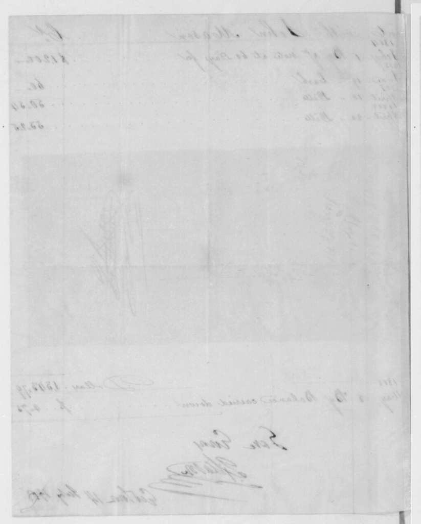 John Mason to James Madison, July 14, 1808. Includes Accounts from April 4, 1804 and a promissory note dated Feb 1, 1804.